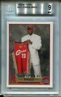 2003 Topps Basketball #221 LeBron James Rookie Card RC Graded BGS MINT 9 Lakers