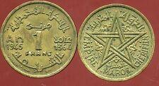 MAROC MOROCCO 1 franc 1945    ( ca )