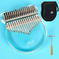 AKLOT  Kalimba 17 Keys Transparent Acrylic Panda Thumb Piano with Case Stickers