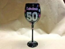 Fabulous 50 Wine Glass Great 50th Birthday Gift