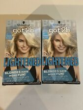 2 Schwarzkopf Got2B Be En-Lightened 00A Heavenly Blonde Hair Lightener Color