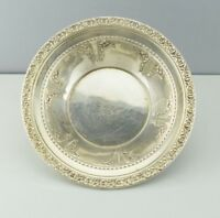 Reed & Barton Sterling Silver 520 Small Round Dish Bowl Floral Rim
