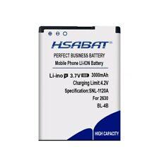 HSABAT 3000mAh BL-4B Battery for NOKIA 2505 3606 3608 2670 2660 2630 5000 6111 7