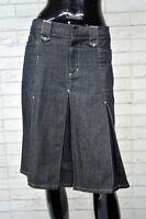 Gonna in Jeans LIU JO Taglia Size 28 Skirt Woman Cotone Minigonna Grigio Scuro
