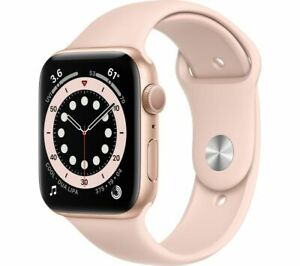 APPLE Watch Series 6 Gold Aluminium with Pink Sand Sports Band 40mm - Currys