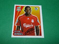 N°318 RYAN BABEL LIVERPOOL REDS MERLIN PREMIER LEAGUE FOOTBALL 2007-2008 PANINI