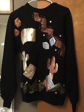 Vintage NWT NEW NOS Tultex Shiny Sparkly Southwest Gambling Sweatshirt M USA