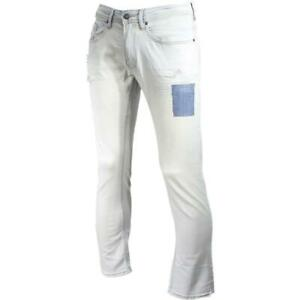 Buffalo By David Bitton Ash-X Ripped & Repaired Slim Stretch Jeans