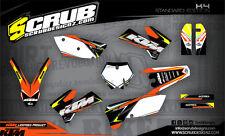 KTM Dekor EXC EXC-f 125 200 250 300 400 450 525 2005 2006 2007 '05 06 '07 Grafik