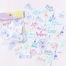 40pcs Kawaii Travel Diary Stickers DIY Scrapbooking Photo Album Decorative Hot