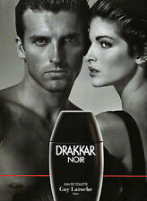 Publicité Advertising 1990  Parfum  DRAKKAR NOIR  de  GUY LAROCHE