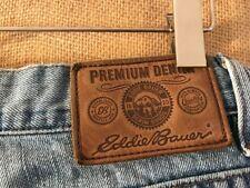 "Eddie Bauer men's light blue jeans size 32 x 32"" cotton zip fly high-rise boot c"