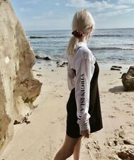 Brandy Melville White Relax Fit Crewneck Camila St. Croix Graphic Top S/m