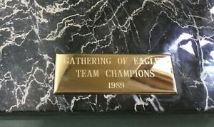 Vintage Eagles football team champion 1980s RARE Marble Prize Plaque Heavy