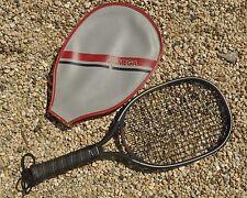 Vintage Leach Graphite Avenger Black Raquetball Raquet with Vinyl Zipper Cover