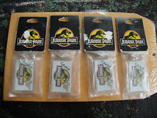 VINTAGE 1993 JURASSIC PARK KEY CHAINS ( LOT OF 4) NEW IN PACKAGE