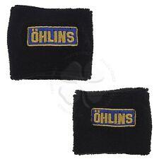Large & Small Black Ohlins Brake Clutch Reservoir Sock Cover Motorcycle Bike