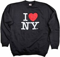 I Love NY Crewneck Sweatshirt Black Officially Licensed