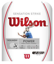 Wilson Sensation Strike 17 / 1.24mm Squash String - White / Black (10m set)