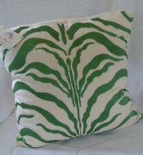 DL Rhein Embroderied Pillow Zebra Green Zip Cover Green Zebra NEw
