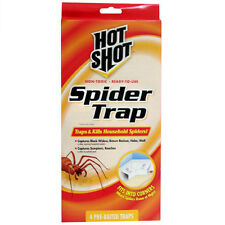 4 New Hot Shot Spider Traps,Insect/Scorpion/Roa ch Trap,Household Pest Control