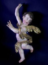 Ancien Baroque Ange-bois sculpté & Prise - 51 cm