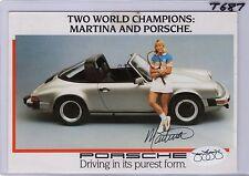 martina navratilova jsa coa auto porsche werbe karte tennis mascara-t687