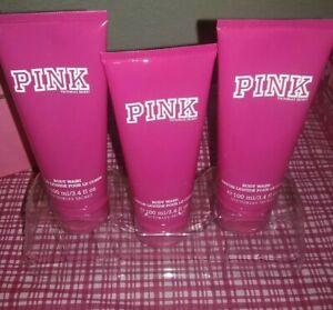 NEW Victoria's Secret Original Pink Fragrance Body Wash X 3 (3.4 oz / 100ml)