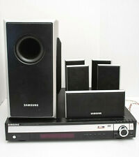 SAMSUNG DVD Home Theater System HT-Q40 5 Disc DVD Player Subwoffer & 5 Speakers