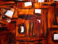 Stoff Rest rot braun karriert 4m x 0,90m Baumwolle 95%, Polyester 5%