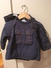 H&M Baby Boy Navy Blue Coat With Removable Hood Size 6-9 Months
