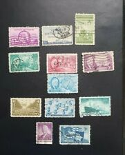 US STAMPS USED 1945 COMPLETE YEAR SET 12 STAMPS