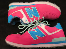 New Balance 574 Sport Running Sneakers Pink / Turquoise Girls Women's Shoes 5