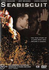 SEABISCUIT (Tobey MAGUIRE Jeff BRIDGES Chris COOPER) Race Horse Film DVD Reg 4