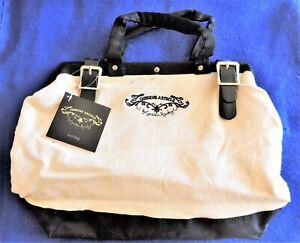 Genuine Article Craft Sewing Tool Bag by Cynthia Rowley Simplicity Tan & Black