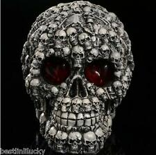 resin scary skull mask demon model scene props artware collection Bar Decorate