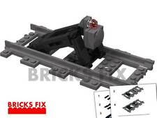 LEGO TRAIN RAILROAD  CUSTOM STOPBLOCK BUFFER BUMPER w PARTS & INSTRUCTIONS TRAIN