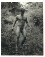 1990 Bruce Weber Nude Male Model Hiking Down A Steep Trail Art Photo Gravure