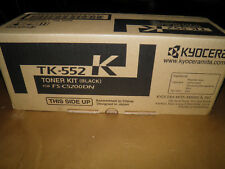 OEM KYOCERA MITA TK552K, S-C5200DN GENUINE BRAND NEW BLACK TONER CARTRIDGES