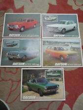 DATSUN SUNNY 120Y BROCHURES / SHEETS, A GROUP OF 5