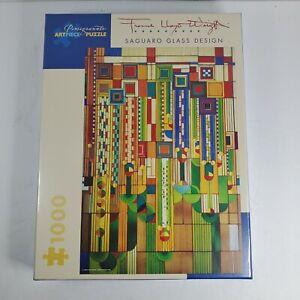 NEW Pomegranate 1000 Piece Jigsaw Puzzle Frank Lloyd Wright Saguaro Glass Design