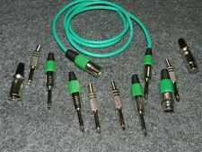 XLR Female>Male Low-Noise Top Quality Kabel Neutrik Stecker blau 6 meter