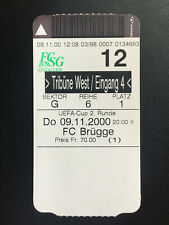 UEFA-CUP 2.Runde FC St.Gallen (Schweiz) - FC Brügge (Belgien)