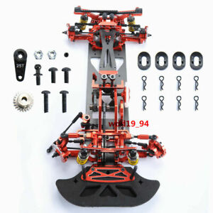 G4 Alloy Metal&Carbon Frame Body Chassis Kit For RC 1:10 RC Drift Racing Car 4WD