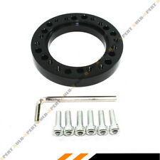 BLACK 1/2'' STEERING WHEEL HUB ADAPTER SPACER FOR AFTERMARKET STEERING WHEEL