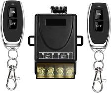YETOR Wireless Remote Switch,220V/230V/240V /40A Relay Wireless RF Switch for