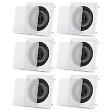 "Acoustic Audio CS-I83S Flush Mount In Ceiling Speakers with 8"" Woofers 3 Pair"