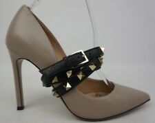 Valentino Rockstud Wrap Poudre Black Leather Pumps Heels Size 35.5