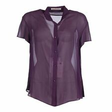 Silk Collared Tops & Shirts Size Plus for Women