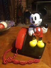 VINTAGE MICKEY MOUSE TELEPHONE   TESTED & WORKING   WALT DISNEY FIGURINE PHONE**
